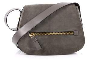 Tom Ford Pre-owned: Jennifer Soft Saddle Bag Suede With Leather Medium.
