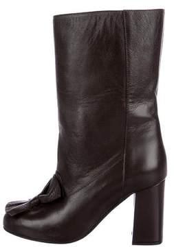 Marni Leather Embellished Boots