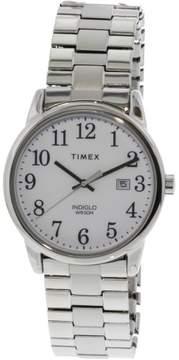 Timex Men's Easy Reader TW2R58400 Silver Stainless-Steel Analog Quartz Dress Watch