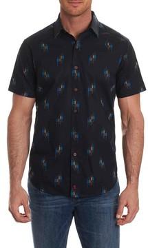 Robert Graham Men's Carney Geo Print Short Sleeve Sport Shirt