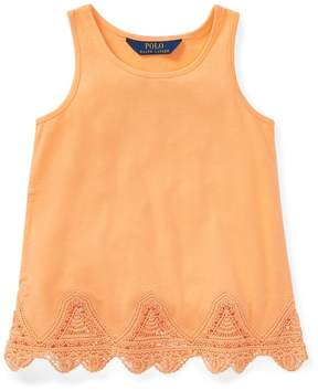 Ralph Lauren | Lace-Trim Jersey Tank Top | 6 years | Fair orange