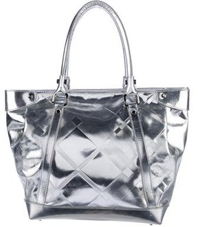 Burberry Metallic Super Nova Check Tote - METALLIC - STYLE
