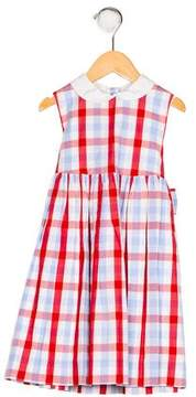 Papo d'Anjo Girls' Plaid Pleated Dress