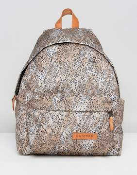 Eastpak Padded Pak'R Backpack In Leopard