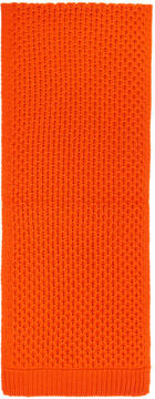 Calvin Klein Orange Cable Knit Scarf