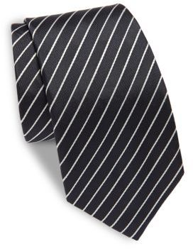 Moschino Striped Silk Tie
