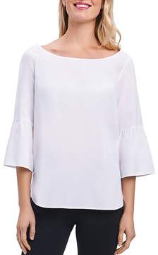 Foxcroft Button-Back Bell-Sleeve Top
