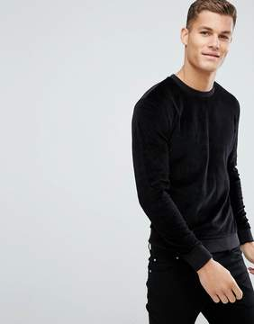 Kiomi Velour Sweatshirt In Black