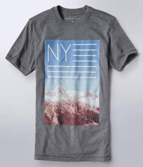 Aeropostale NY Northeast Flag Graphic Tee