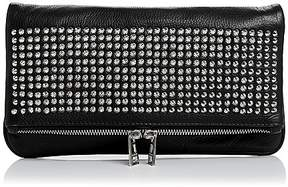 Zadig & Voltaire Rock Spike Leather Crossbody Clutch