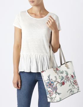 Sabine Printed PU Shopper Bag
