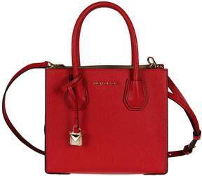 Michael Kors Leather Tote - BRIGHT RED - STYLE
