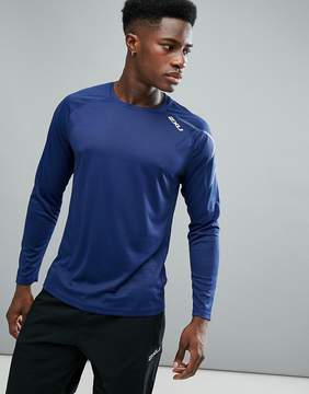 2XU Running Active Long Sleeve Top In Navy MR5158A-NVY
