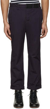 Sacai Navy Overdyed Trousers