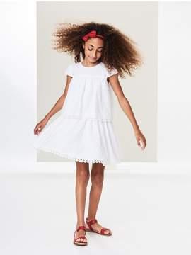 Oscar de la Renta Kids Kids | Tiered Flower Eyelet Cotton Dress | 8 years