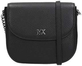 Michael Kors Black Leather Motte Dome Bag - BLACK - STYLE