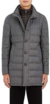 Moncler Men's Down-Quilted Wool Twill Coat