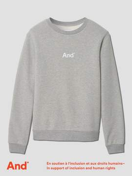 Frank and Oak And Man French Terry Crewneck in Grey Melange