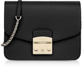 Furla Onyx Leather Metropolis Small Crossbody