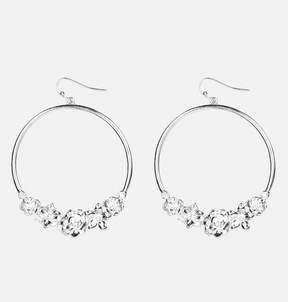 Avenue Metal Flower Hoop Earrings