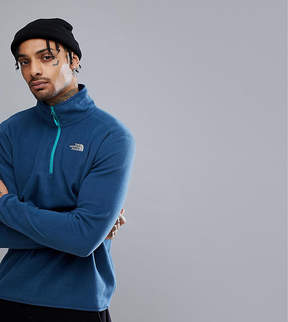 The North Face 100 Glacier 1/4 Zip Fleece Exclusive to ASOS In Dark Blue