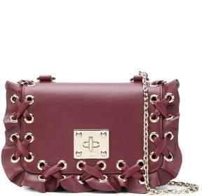 RED Valentino RED(V) laced rivet crossbody bag