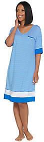 Cuddl Duds Smart Comfort Elbow Sleeve V-NeckSleep Dress