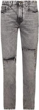 Saint Laurent Distressed straight-leg jeans