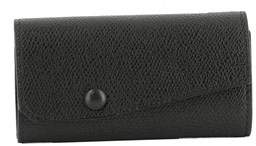 Valextra Women's Black Leather Wallet.