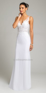 Camille La Vie Sweetheart Lace Illusion Crepe Wedding Dress