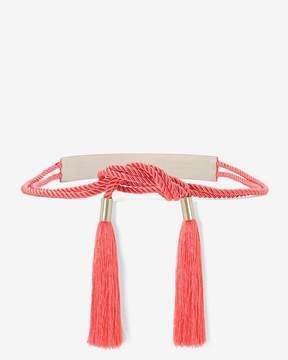 White House Black Market Tassel Tie Belt