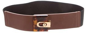Lanvin Leather-Trimmed Waist Belt