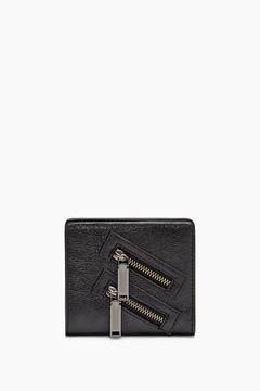 Rebecca Minkoff Half Snap Wallet - BLACK - STYLE