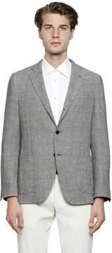 Lardini Linen Blend Prince Of Wales Jacket