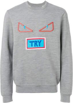 Fendi Vocabulary and Bag Bug Eyes sweatshirt