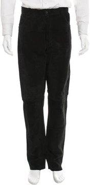 Joseph Suede Flat Front Pants