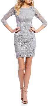 B. Darlin Tie Back Lace Sheath Dress