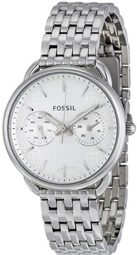 Fossil Tailor Multi-Function White Dial Stainless Steel Ladies Watch