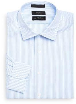 Saks Fifth Avenue BLACK Dobby Stripe Dress Shirt