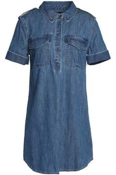Equipment Cotton-Chambray Mini Shirt Dress