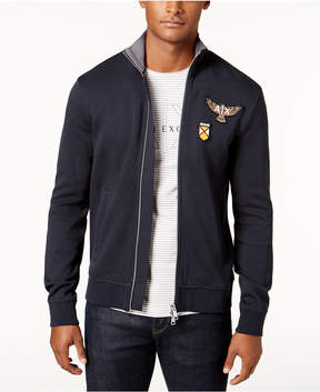 Armani Exchange Men's Zip-Front Patch Jacket