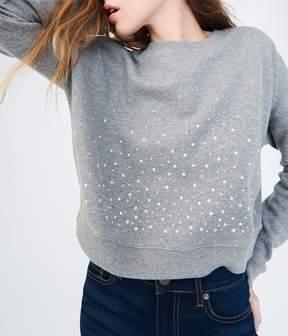 Aeropostale Pearly Embellished Crew Sweatshirt