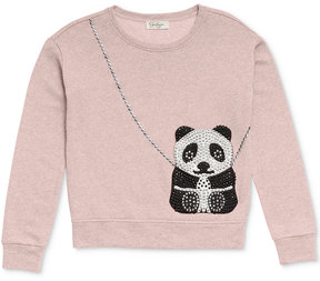 Jessica Simpson Panda Purse-Pocket Sweatshirt, Big Girls (7-16)