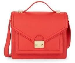 Loeffler Randall Pebbled Leather Messenger Bag