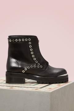 Alexander McQueen Calfskin Ankle Boots