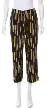 Prada High-Rise Printed Pants