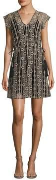 Calypso St. Barth Women's Deziba Lace Cap Sleeve Flared Dress