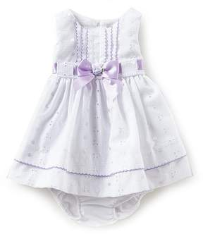 Bonnie Jean Bonnie Baby Baby Girls Newborn-24 Months Solid Eyelet Dress