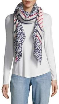 Karl Lagerfeld Paris Mixed Print Scarf