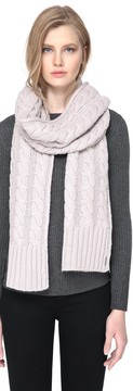Soia & Kyo MIRI cable knit scarf in putty